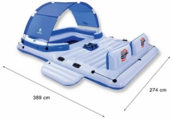 large bestway tropical breeze inflatable floating island raft 2