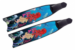 leaderfins limited edition sea queen with forza foot pockets  large